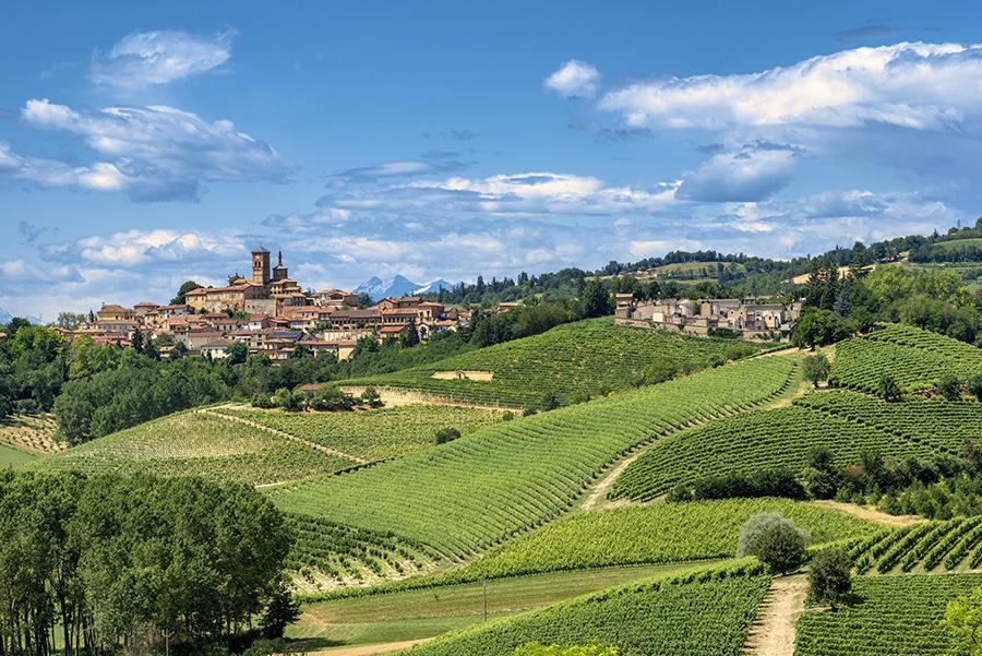 Asti, en la región de Piamonte y famosa por sus vinos